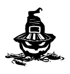halloween pumpkin evil laughing vector image