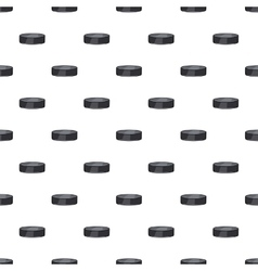 Hockey puck pattern cartoon style vector image