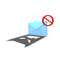 Icon spam mail vector