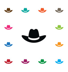 Isolated gaucho icon cowboy element can be vector