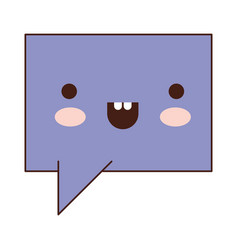 kawaii square dialogue speech with tail in vector image