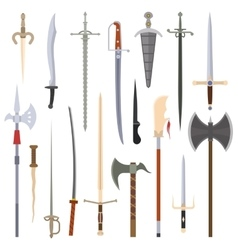 Knifes iron weapon collection vector
