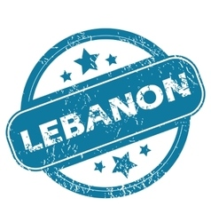 LEBANON round stamp vector image