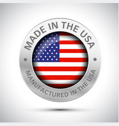 made in america flag metal icon vector image