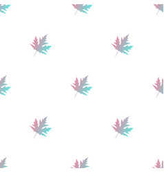 maple leaves seamless floral vector image