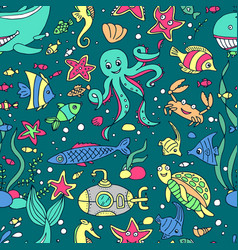 marine inhabitans vector image