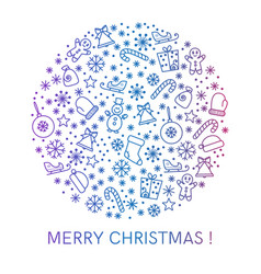 Merry christmas greeting cards design vector