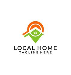 Modern search real estate logo vector
