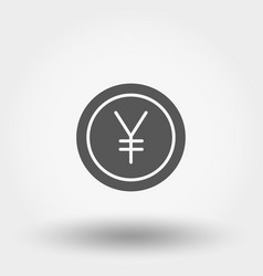 Money sign coin yen vector