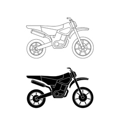 Motorcycle line icons vector