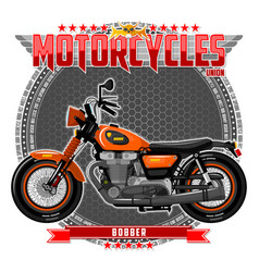 Motorcycle of a certain type vector