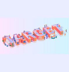Objective business target effort typography banner vector