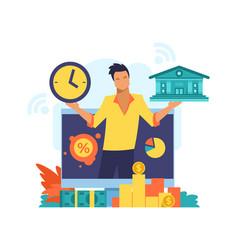 online mobile bank digital banking service vector image