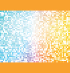 orange blue mosaic pattern vector image