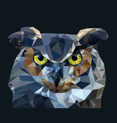 owl in low poly style vector image