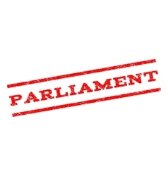 Parliament Watermark Stamp vector image