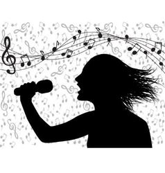 people singing and musical lineup vector image