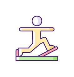 Pilates rgb color icon vector