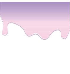 Pink and violet dripping melted caramel vector