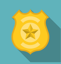 police badge flat design vector image