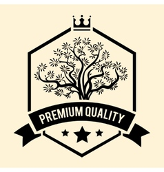 Premium Quality badge or label for Olive Oil vector