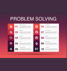 Problem solving infographic 10 option template vector
