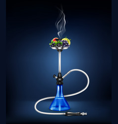 Realistic hookah fruit composition vector