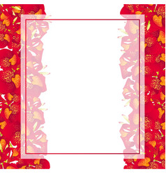 red canna lily banner card border vector image