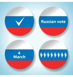 Russian election stickers vector