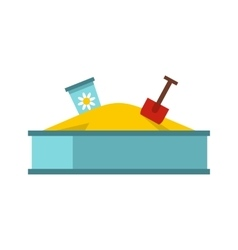 Sandbox icon in flat style vector image