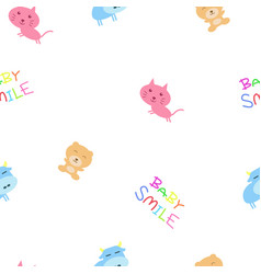 seamless bg for baby vector image