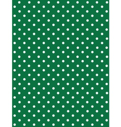 Seamless Dot Pattern White Dots on Green vector