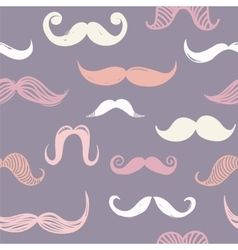 Seamless moustache pattern vector image