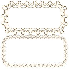 set of rectangular beautiful frames vector image