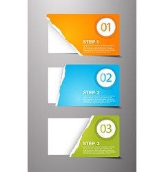 Set of teared card with place for your own text vector