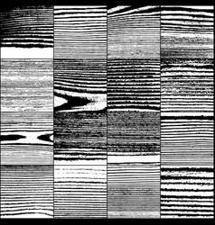 Set realistic wooden texture vector