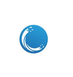 splash water blue nature logo vector image
