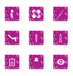 Sport carcass icons set grunge style vector