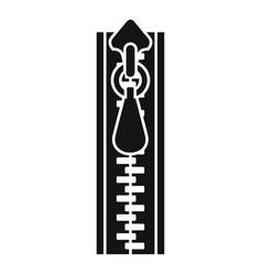 sweatshirt zipper icon simple style vector image