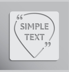 template quotes of navigation icon bracket vector image