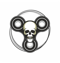 toy skull spinner vector image
