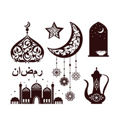 traditional islamic elements vector image
