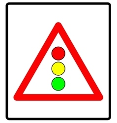 Traffic lights sign vector