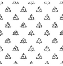 triangular energy arrow pattern seamless vector image