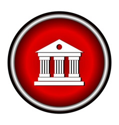 University icon isolated on white background vector