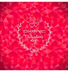 Valentine crystal wreath vector