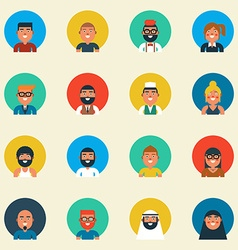 Variation of character design vector image