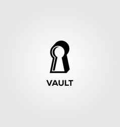 Vault vintage logo minimalist icon vector