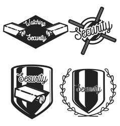 Vintage security emblems vector
