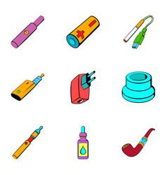 Voltage icons set cartoon style vector